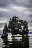 Hvitserkur, the troll rock Royalty Free Stock Image