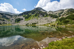 Hvoynati Peak and Muratovo Lake, Pirin Mountain Landscape Stock Photo