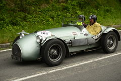 Hw Motors car running in Mille Miglia race Stock Image