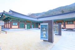 Hwaeomsa-Tempel, der der alte koreanische buddhistische Tempel in Nationalpark Jirisan ist Stockbilder