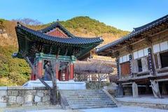 Hwaeomsa-Tempel, der der alte koreanische buddhistische Tempel in Nationalpark Jirisan ist Stockfoto