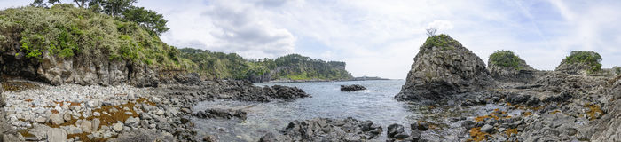 Hwanguji coast in Jeju Island Royalty Free Stock Photo
