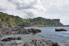 Hwanguji coast in Jeju Island Royalty Free Stock Photography