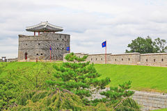 """Hwaseong för †för Korea UNESCOvärldsarv """"fästning Royaltyfri Bild"""