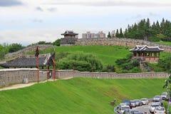"""Hwaseong för †för Korea UNESCOvärldsarv """"fästning och Suwon stad Royaltyfri Foto"""