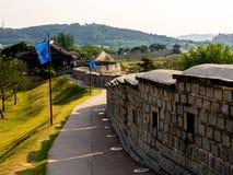 Hwaseong-Festung Seojangdae oder Suwon Hwaseong ist eine Verst?rkung, welche die Mitte von Suwon umgibt korea stockbild