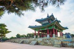 Hwaseong-Festung in Suwon, berühmt in Korea stockfotografie
