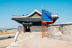 Hwaseong Fortress Changnyongmun Gate, Korean traditional architecture in Suwon, Korea. Hwaseong Fortress Changnyongmun Gate Korean traditional architecture in Royalty Free Stock Photography
