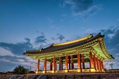 Hwaseong Fortress at Dusk Royalty Free Stock Image
