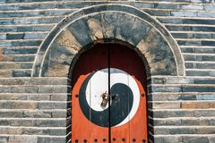 Hwaseong Fortress, Korean traditional door in Suwon, Korea. Hwaseong Fortress Korean traditional door in Suwon, Korea Stock Image