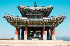 Free Hwaseong Fortress Seojangdae, Korean Traditional Architecture In Suwon, Korea Stock Image - 111825371