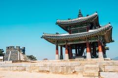 Hwaseong Fortress Seojangdae, Korean traditional architecture in Suwon, Korea. Hwaseong Fortress Seojangdae Korean traditional architecture in Suwon, Korea Royalty Free Stock Images