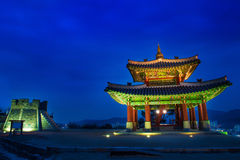 Hwaseong fortress in Suwon,Famous in Korea. Royalty Free Stock Photo
