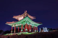 Hwaseong fortress in Suwon. Stock Photos