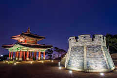 Hwaseong fortress in Suwon. Royalty Free Stock Photo