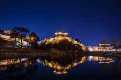 Hwaseong fortress in Suwon. Royalty Free Stock Photography