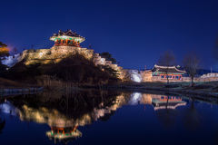 Hwaseong fortress in Suwon. Stock Image