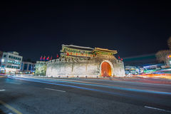 Hwaseong fortress in Suwon. Royalty Free Stock Photos