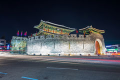 Hwaseong fortress in Suwon. Royalty Free Stock Image