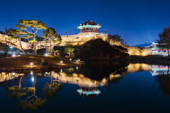 Hwaseong Fortress, Traditional Architecture of Korea in Suwon at Stock Photos