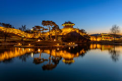Hwaseong Fortress, Traditional Architecture of Korea in Suwon at Royalty Free Stock Image