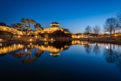 Hwaseong Fortress, Traditional Architecture of Korea in Suwon at Royalty Free Stock Photography