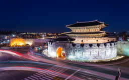 Hwaseong Fortress, Traditional Architecture of Korea in Suwon, S Royalty Free Stock Images