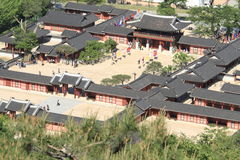 Hwaseong Haenggung σε Suwon στοκ φωτογραφία
