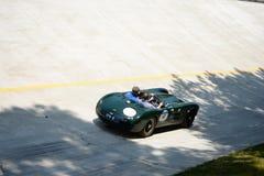 1954 HWM Jaguar S 3400 CC in Mille Miglia Royalty-vrije Stock Fotografie