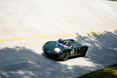 1954 HWM Jaguar S 3400 centímetros cúbicos em Mille Miglia Fotografia de Stock Royalty Free