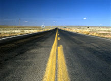 Hwy #191, Arizona. Empty  road in Arizona Hwy #191 Royalty Free Stock Image