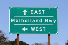 hwy Los mulholland σημάδι της Angeles Στοκ Εικόνες