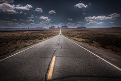 Hwy 163 naar Monument Vally Forrest Gump Point Stock Foto