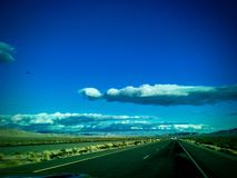 Hwy 50 in Nevada. Close to Austin stock image