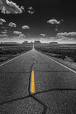 Hwy 163 toward Monument Vally Forrest Gump Point selective satur Royalty Free Stock Images