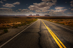 Hwy 163 toward Monument Vally Forrest Gump Point Stock Photography