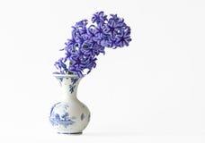 Hyacinten in een Vaas Stock Afbeelding