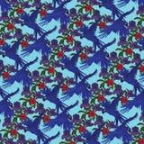 Hyacinth macaws pattern. Royalty Free Stock Photos