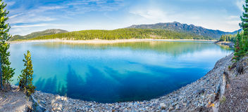 Hyalite Canyon Reservoir. Panorama of Hyalite Reservoir in Hyalite Canyon near Bozeman, Montana Stock Photos