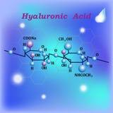 Hyaluronic όξινος τύπος κρέμας ενυδάτωσης σε ένα φωτεινό υπόβαθρο διανυσματική απεικόνιση