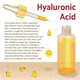 Hyaluronic Acid Bottle and Pipette. Place for Text Stock Photography