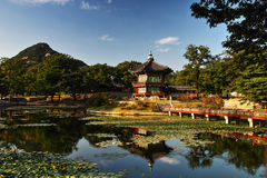 Hyang Won Jeon Seoul. Hyang wong Jeon Pavillion of Fragance, GyeongBok Palace Seoul Royalty Free Stock Photos