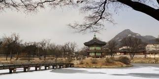 Hyangwon jeong塔 图库摄影