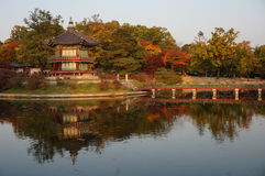 Hyangwon Jeong Pavillion at the Gyeongbokgung Palace in Seoul, South Korea Stock Photos