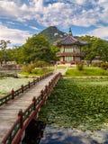 Hyangwon-jeong y el loto Fotos de archivo libres de regalías