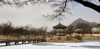 Hyangwon jeongpagod arkivbild
