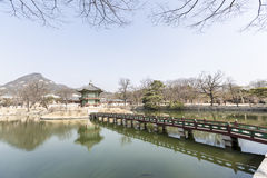 Hyangwonjeong pavilion Royalty Free Stock Images