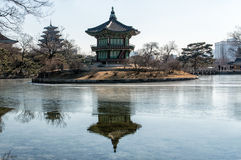 Hyangwonjeong pavilion royalty free stock photography