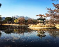 Hyangwonjeong pavilion Seoul royalty free stock image