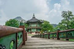 Hyangwonjeong paviljong Royaltyfria Foton